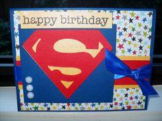 ... Unknown, Entertaining Mind of Miss Dena Jones: Superman Birthday Card
