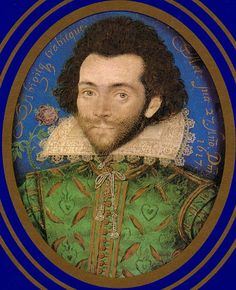 An Unknown Man with a rose by Nicholas Hilliard, 1617. (Victoria & Albert Museum)