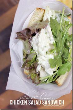 Sweet Onion Chicken Salad Sandwich | @mamamissblog