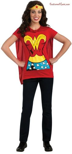 Wonder Woman T-shirt for Halloween, made in America and perfect for the mom who does well....everything!!!