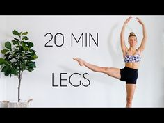 This 20 min at home workout targets your inner and outer thighs, calves, quads, and booty! Long and lean dancer legs with no equipment needed. 15 Min Workout, Leg Workout At Home, Workout Videos, At Home Workouts, Dancer Leg Workouts, Toning Workouts, Body Sculpting Workouts, Workout Routines, Dancer Legs