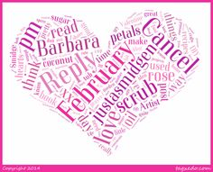 Free Personalized Cloud Art - Just a Smidgen Why not make this sweet personalized gift this Valentine's Day? With the Tagxedo software, you can make your very own designs!!