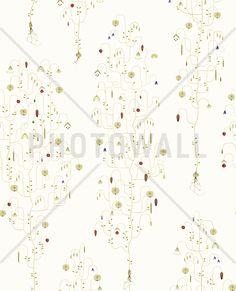 Apple Berry - Off White - Mural de pared y papel tapiz fotográfico - Photowall