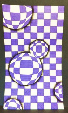 - Optical Illusion Drops Students measured a grid, then added circles and b. - – Optical Illusion Drops Students measured a grid, then added circles and bent the grid line - Op Art Lessons, Art Lessons Elementary, Programme D'art, Color Terciario, Classe D'art, Middle School Art Projects, 3d Art, 6th Grade Art, Art Curriculum