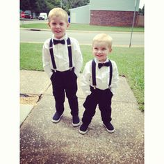 Cutest ring bearers ever, but maybe I'm biased (;
