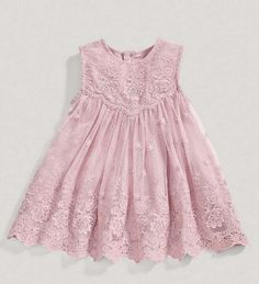 """The """"Camilla"""" Pink Lace Baby + Toddler Dress. Angora Boutique $24"""