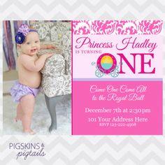 Princess First Birthday Invitations 1st Invitation WordingBirthday Party