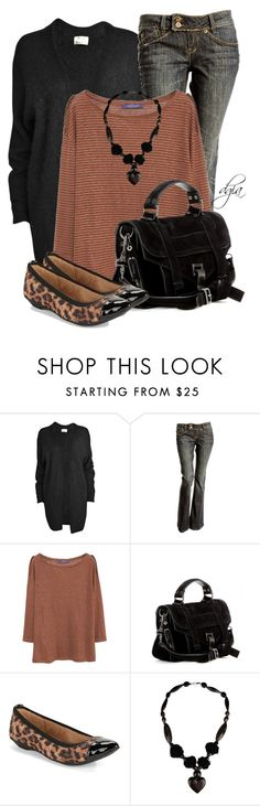 """""""Untitled #4711"""" by dgia ❤ liked on Polyvore featuring Violeta by Mango, Proenza Schouler and Anne Klein"""