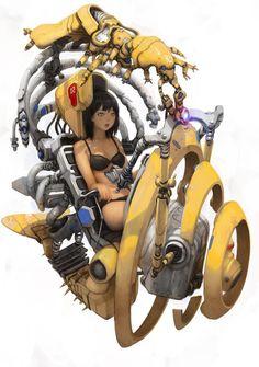 Character Concept, Character Art, Character Design, Arte Cyberpunk, Robot Concept Art, Science Fiction Art, Sci Fi Art, Art Reference, Character Inspiration