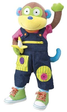 ALEX® Toys - Early Learning Learn To Dress Monkey -Little Hands 1492:Amazon:Toys & Games