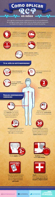 ¿Sabes cómo actuar en una emergencia? Aprende RCP para niños. #Infografía