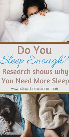 Do you sleep enough? Here are some research on why sleep is so important to your everyday life. Be more productive at work, have better relationships and take better care of yourself by getting some sleep!