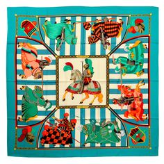 Gorgeous Hermes Chocs En Plumes Silk Scarf | From a collection of rare vintage scarves at https://www.1stdibs.com/fashion/accessories/scarves/