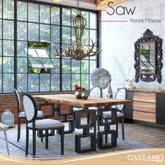 Saw yemek masası sadeliğin şıklığını hiçbir şeye değişmem diyenlere hitap ediyor. #castamo #yemekmasası #dekorasyon #furniture