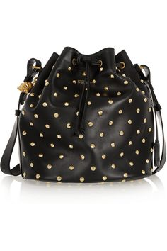 Alexander McQueen | Padlock Secchiello studded leather shoulder bag | NET-A-PORTER.COM