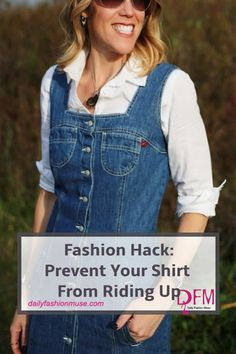 How To Prevent Your Shirt From Riding Up - Daily Fashion Muse