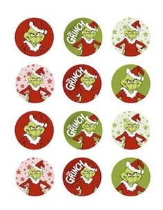 grinch cupcake toppers - Bing Images