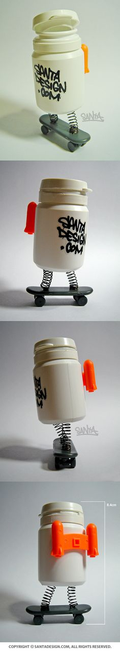 #Recycle #Toy #DIY / #XYLITOL #Gum #SKATE #BOARDER / 2013