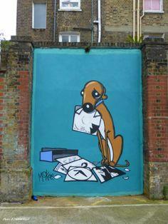 Artist :Pete McKee :street art door in London