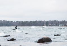 Elina Manninen Photography, Surf's up - part Waves on Lauttasaari. Sup Surf, Surfs Up, Surfing, Waves, Mountains, Nature, Photography, Naturaleza, Photograph
