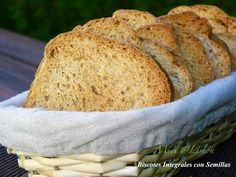 Miel y Limón : BISCOTES INTEGRALES CON SEMILLAS Thermomix Bread, Pan Bread, Food, Gastronomia, Limeade Recipe, Hamburgers, Pizza, Breads, Honey