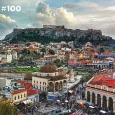 100 Photos of the Acropolis. These are 100 shots of the Acropolis taken from 100 different rooftops of Athens. The photos were taken between. Vacation Destinations, Vacation Trips, Places Around The World, Around The Worlds, Parthenon, Athens Greece, Athens Acropolis, Adventure Is Out There, Greek Islands