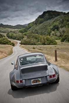 Gorgeous Classic 911 w/ Fender Flares on a Windy Road