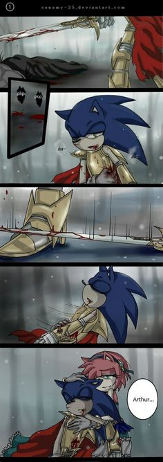 A Sonic Comic of Sonic and the Black Knight. To be continue Part 1°: this :3 Part 2°: Part 3°:[link] Part 4°: n.n Art be me Sonic and Amy (C) is by SEGA