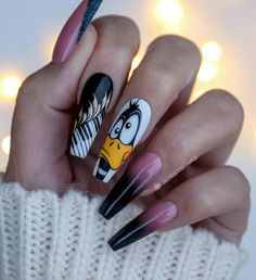 30 Wondrous Winter Nail Design Ideas For 2020 New Nail Designs, Winter Nail Designs, Winter Nails, Spring Nails, Manicure, Pink One Piece, Disney Nails, Best Acrylic Nails, Nagel Gel