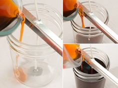 Candlemaking 101: How to make a jar container candle. Full step-by-step instructions with photos. Free tutorial in the Crafting Library at RusticEscentuals.com!