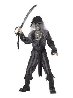 Halloween Zombie Pirate - Kids Costume