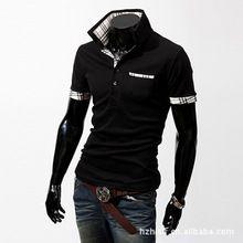 2014 Hot Sale New Mens Shirts Casual Slim plaid collar Fashion Shirts LL025(China (Mainland))