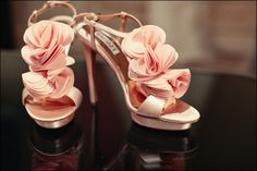 bride's shoes. they matched her bridesmaids' dresses PERFECTLY.