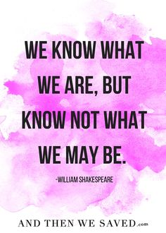 """We know what we are"