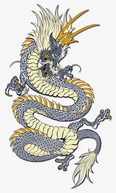 Dragon Tattoo is one of the most popular mystical tattoos. Like most other mythological tattoos, dragon tattoos are perceived in different ways by different cultures around the world. 3d Dragon Tattoo, Dragon Tattoo Vector, Small Dragon Tattoos, Dragon Tattoo For Women, Dragon Tattoo Designs, Golden Dragon Tattoo, Chinese Dragon Drawing, Chinese Dragon Tattoos, Chinese Art
