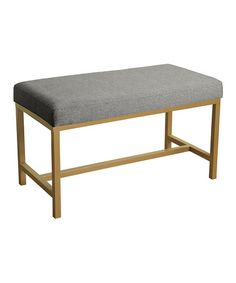 Look at this #zulilyfind! Gray Herringbone Long Rectangle Bench #zulilyfinds