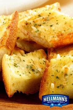 Warm, buttery Parmesan French Bread. Why eat out to enjoy some savory garlic bread? A perfect appetizer recipe, made even tastier with Hellmann's Mayonnaise.