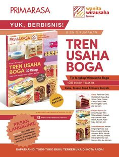 Femina.co.id: BUKU TREN USAHA BOGA, 30 Resep Cake Gaul, Frozen Food, dan Snack Renyah.