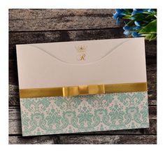 Convite de 15 Anos Tiffany com Dourado