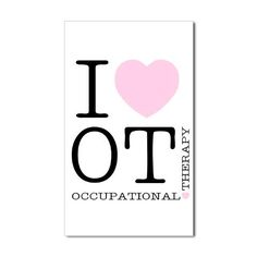 I love occupational therapy