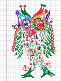 13237350-doodle-owl-marker-drawing--Stock-Vector-owl-art-cartoon.jpg (978×1300)