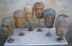 antique mannequin heads