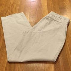 BR stretch pants Stretchy khaki pants from Banana Republic. These used to be a favorite, but don't fit anymore. Tab front and zip fly. Rear pockets. Also selling in black. Bundle and save! Banana Republic Pants