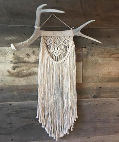 One of my new favorite pieces coming to my market this weekend  #macrame #modernmacrame #macramewallhanging #wallhanging #uniquegift #antlers #antlerart #niromastudio
