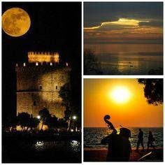 Θεσσαλονικη... η πολη μου!!! <3 Greece Country, Thessaloniki, Night Time, Love Of My Life, Heaven, Sunset, City, Collages, Places