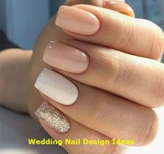 Semi-permanent varnish, false nails, patches: which manicure to choose? - My Nails Best Acrylic Nails, Acrylic Nail Designs, Sparkly Nail Designs, Neutral Nail Designs, Short Square Acrylic Nails, Short Square Nails, Colorful Nail Designs, Nagel Blog, Sparkly Nails