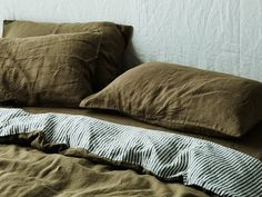 Make a statement with our bold Charcoal Stripe. Shop our beautiful range of pure French linen sheet sets available in King, Queen, Double, King Single and Single sizes and enjoy the widest range of linen colours online. Linen Bed Sheets, Linen Bedroom, Linen Pillows, Linen Bedding, Bed Pillows, Bed Linens, Sheets Bedding, Master Bedroom, Master Suite