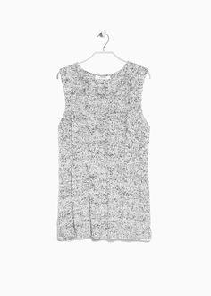 Cotton-blend knit top