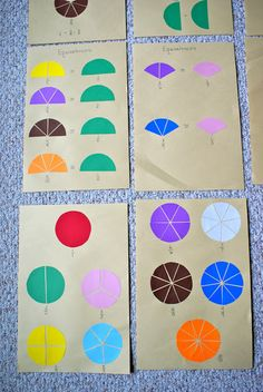{What DID we do all day?} Fraction Charts, Montessori Math