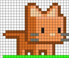 Cubekitty Perler Bead Pattern / Bead Sprite